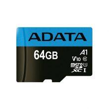 کارت حافظه microSDXC  مدل Premier V10 A1 ظرفیت 64 گیگابایت ای دیتا