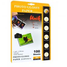 کاغذ فتوگلاسه سایز A4 وزن 180 گرم 100 برگ یونیک