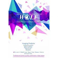 کاغذ سابلیمیشن 100 برگی A4 – Wolf وولف