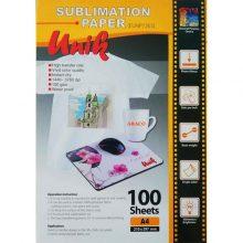کاغذ سابلیمیشن ۱۰۰ گرم A4 – Unik یونیک