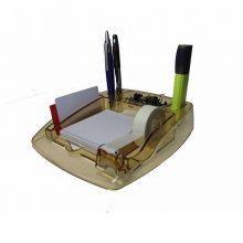 پایه چسب و جا کاغذی بلوری مدل 501 سنا پلاستیک