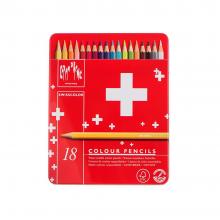 مداد آبرنگی ۱۸ رنگ مدل Swiss Color کارن داش